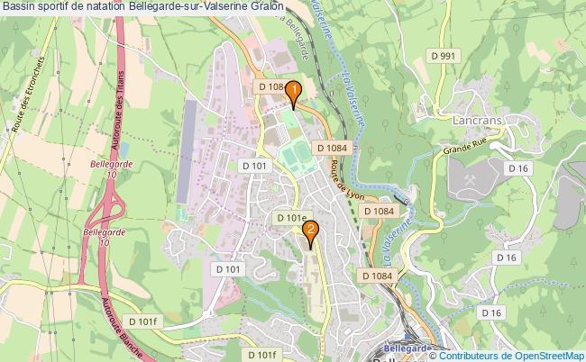 plan Bassin sportif de natation Bellegarde-sur-Valserine : 2 équipements