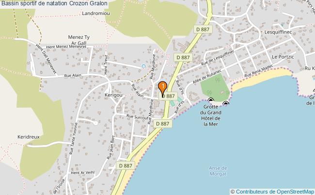 plan Bassin sportif de natation Crozon : 1 équipements