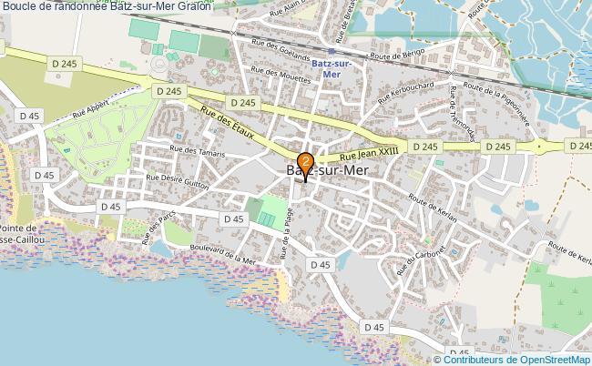 plan Boucle de randonnée Batz-sur-Mer : 2 équipements