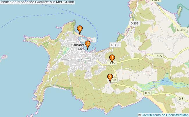 plan Boucle de randonnée Camaret-sur-Mer : 4 équipements