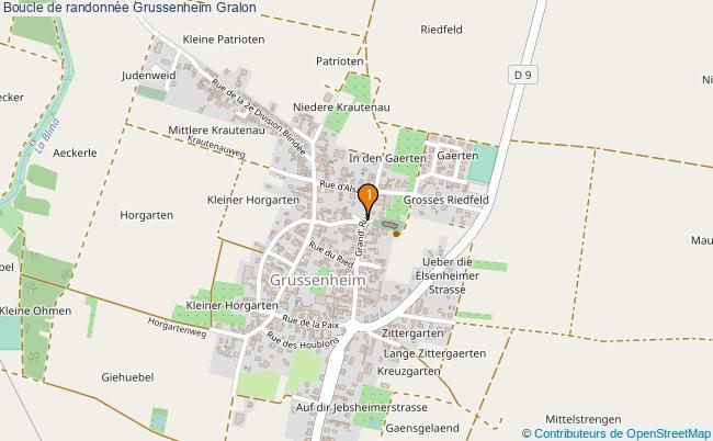 plan Boucle de randonnée Grussenheim : 1 équipements