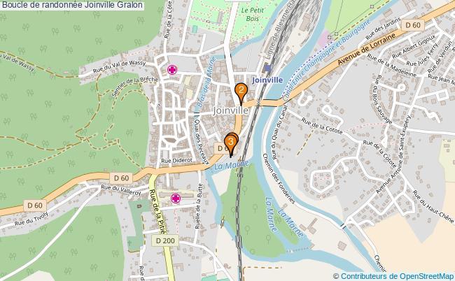 plan Boucle de randonnée Joinville : 3 équipements