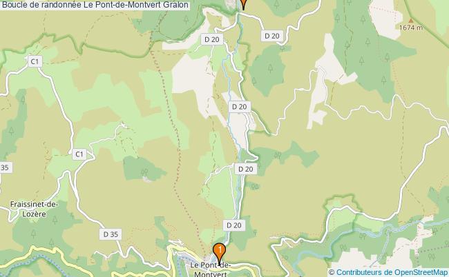 plan Boucle de randonnée Le Pont-de-Montvert : 2 équipements
