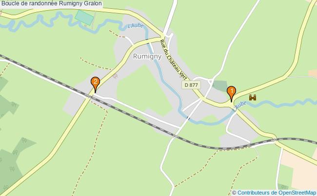 plan Boucle de randonnée Rumigny : 2 équipements