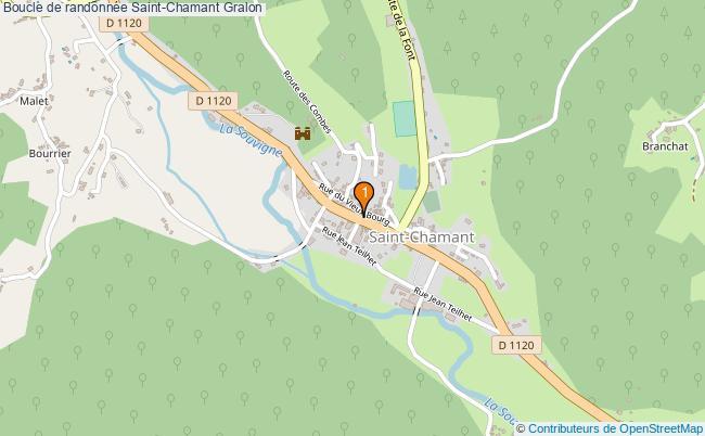 plan Boucle de randonnée Saint-Chamant : 1 équipements