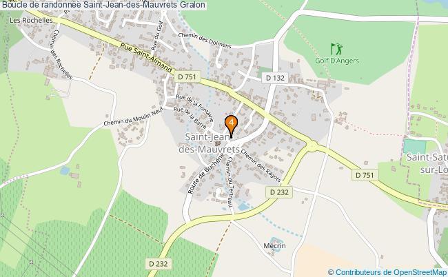 plan Boucle de randonnée Saint-Jean-des-Mauvrets : 4 équipements
