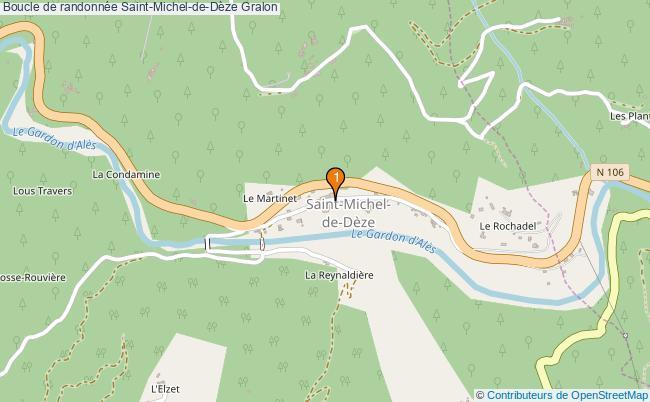 plan Boucle de randonnée Saint-Michel-de-Dèze : 1 équipements