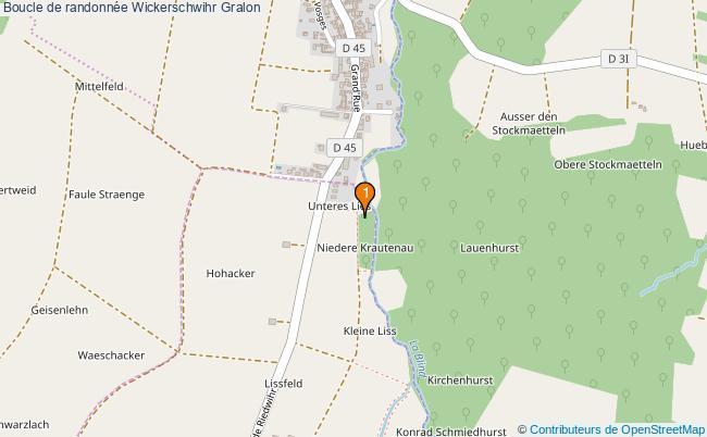 plan Boucle de randonnée Wickerschwihr : 1 équipements