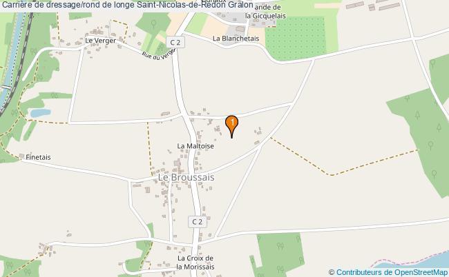 plan Carrière de dressage/rond de longe Saint-Nicolas-de-Redon : 1 équipements