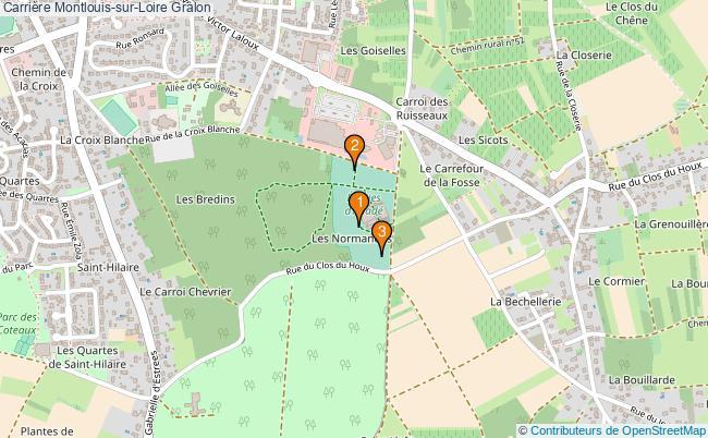 plan Carrière Montlouis-sur-Loire : 3 équipements
