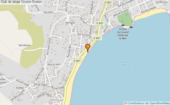 plan Club de plage Crozon : 1 équipements