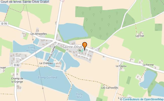 plan Court de tennis Sainte-Olive : 1 équipements