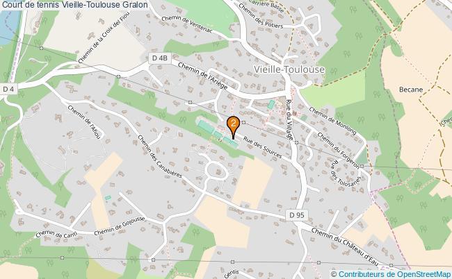 plan Court de tennis Vieille-Toulouse : 2 équipements