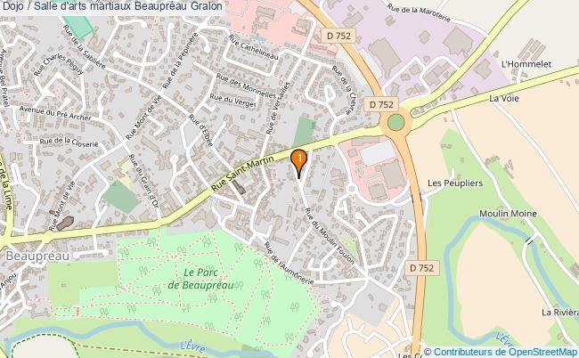 plan Dojo / Salle d'arts martiaux Beaupréau : 1 équipements