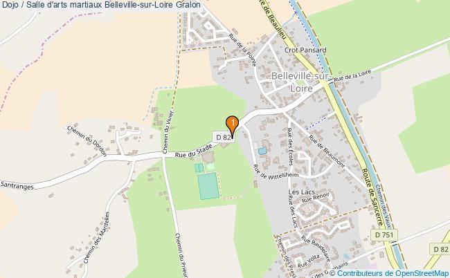 plan Dojo / Salle d'arts martiaux Belleville-sur-Loire : 1 équipements