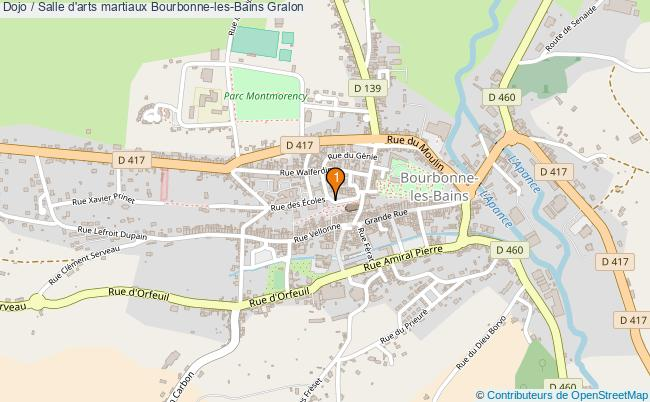 plan Dojo / Salle d'arts martiaux Bourbonne-les-Bains : 1 équipements