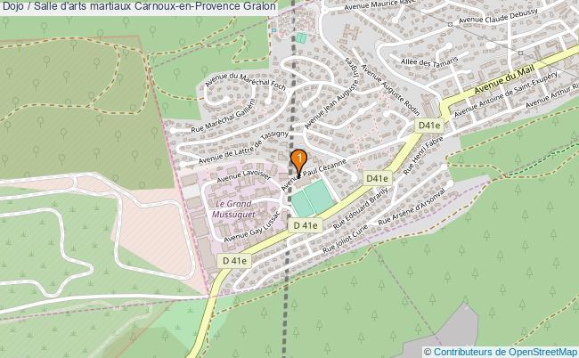 plan Dojo / Salle d'arts martiaux Carnoux-en-Provence : 1 équipements