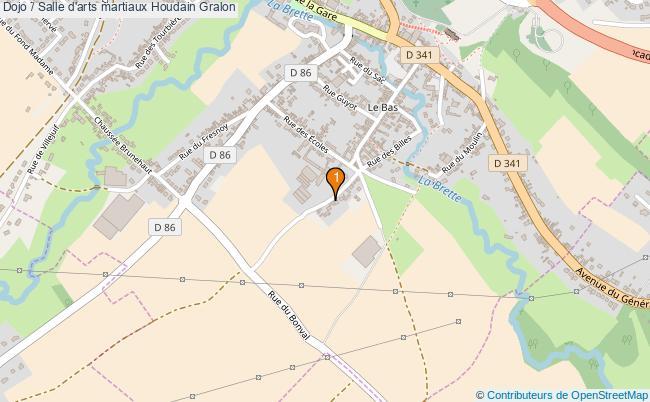 plan Dojo / Salle d'arts martiaux Houdain : 1 équipements