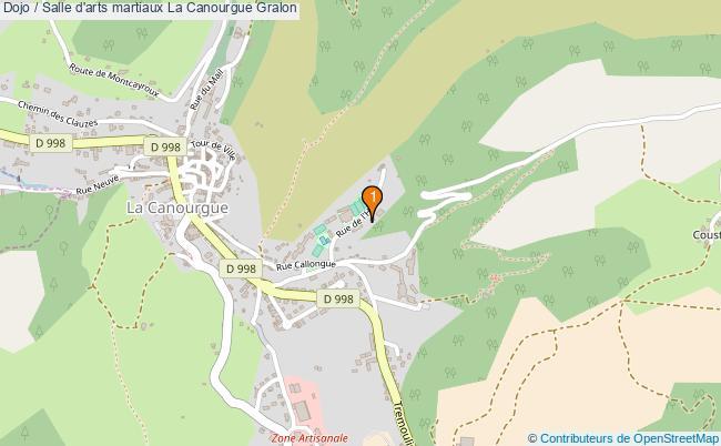 plan Dojo / Salle d'arts martiaux La Canourgue : 1 équipements