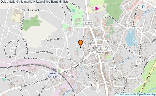 plan Dojo / Salle d'arts martiaux Luxeuil-les-Bains : 1 équipements