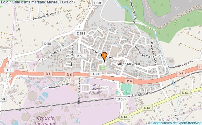 plan Dojo / Salle d'arts martiaux Meyreuil : 1 équipements