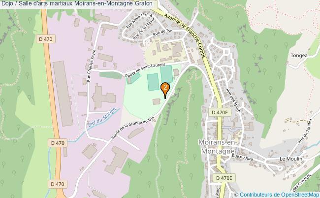 plan Dojo / Salle d'arts martiaux Moirans-en-Montagne : 2 équipements