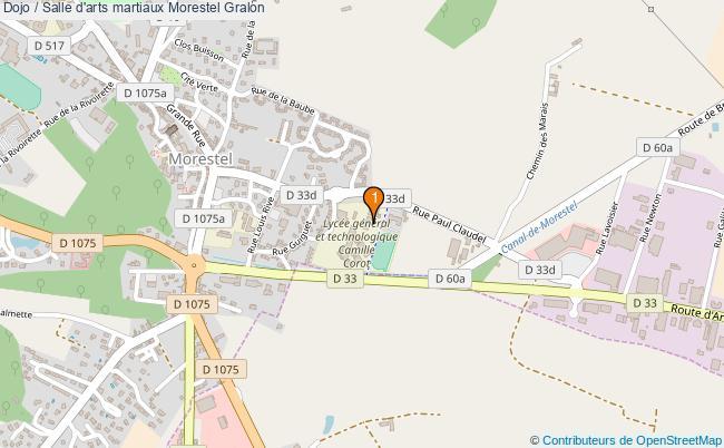 plan Dojo / Salle d'arts martiaux Morestel : 1 équipements