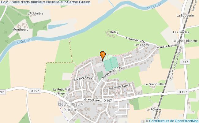 plan Dojo / Salle d'arts martiaux Neuville-sur-Sarthe : 1 équipements