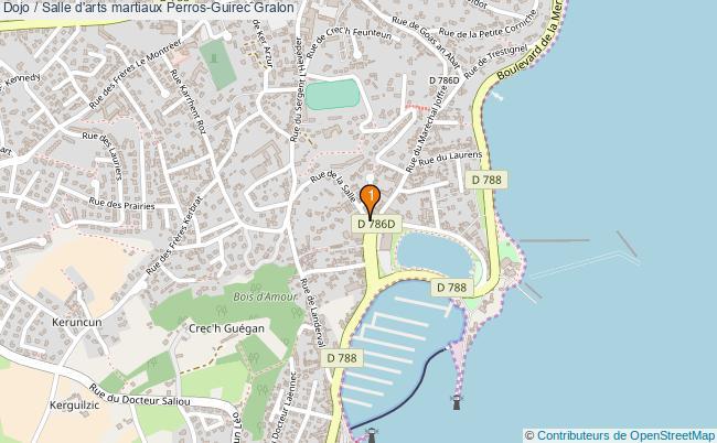 plan Dojo / Salle d'arts martiaux Perros-Guirec : 1 équipements
