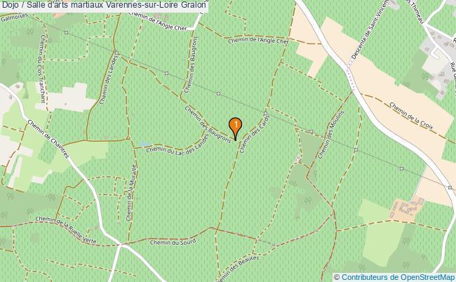 plan Dojo / Salle d'arts martiaux Varennes-sur-Loire : 1 équipements
