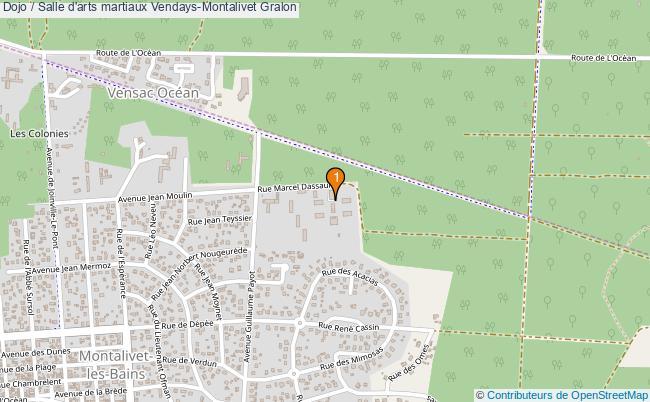 plan Dojo / Salle d'arts martiaux Vendays-Montalivet : 1 équipements