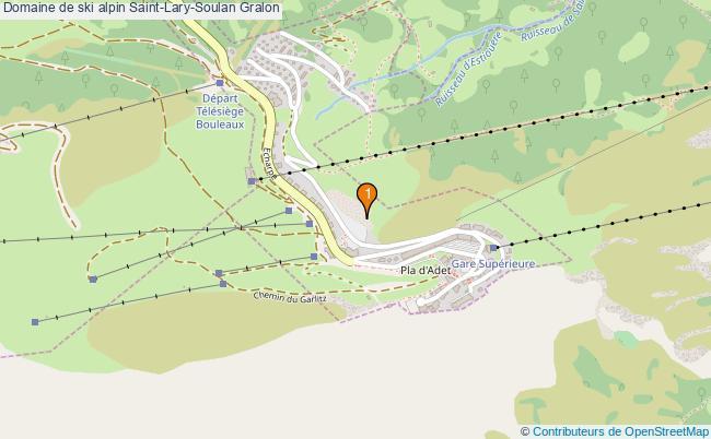 plan Domaine de ski alpin Saint-Lary-Soulan : 1 équipements