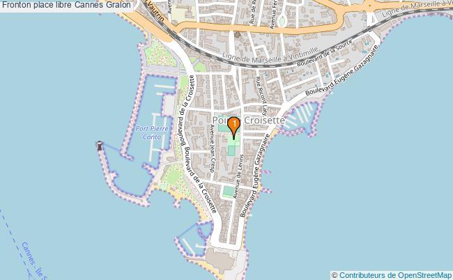 plan Fronton place libre Cannes : 1 équipements