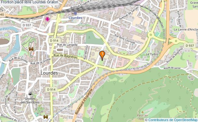 plan Fronton place libre Lourdes : 1 équipements