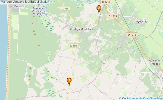 plan Manège Vendays-Montalivet : 2 équipements