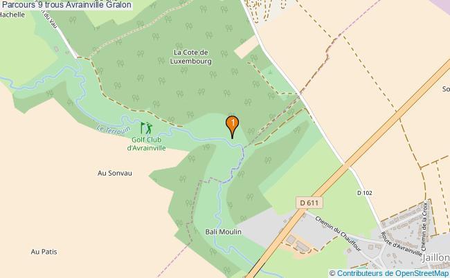 plan Parcours 9 trous Avrainville : 1 équipements