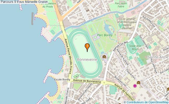 plan Parcours 9 trous Marseille : 1 équipements