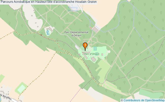 plan Parcours Acrobatique en Hauteur/Site d'accrobranche Houdain : 1 équipements