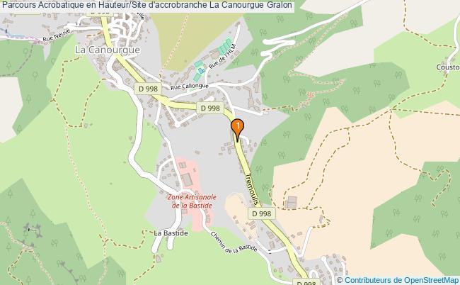plan Parcours Acrobatique en Hauteur/Site d'accrobranche La Canourgue : 1 équipements