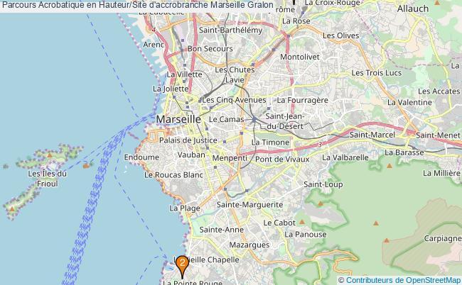plan Parcours Acrobatique en Hauteur/Site d'accrobranche Marseille : 2 équipements