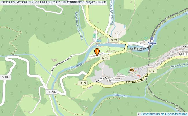plan Parcours Acrobatique en Hauteur/Site d'accrobranche Najac : 1 équipements