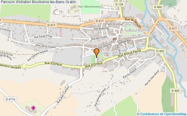 plan Parcours d'initiation Bourbonne-les-Bains : 1 équipements