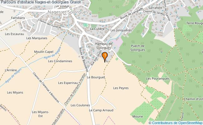 plan Parcours d'obstacle Nages-et-Solorgues : 1 équipements