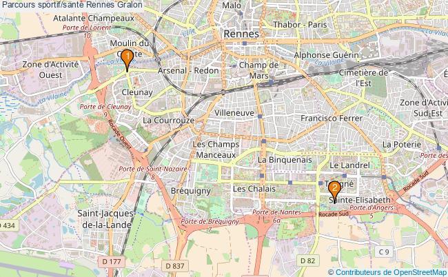 plan Parcours sportif/santé Rennes : 2 équipements