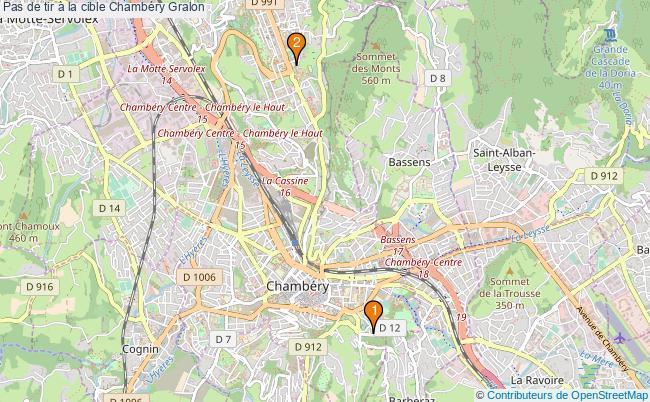 plan Pas de tir à la cible Chambéry : 2 équipements