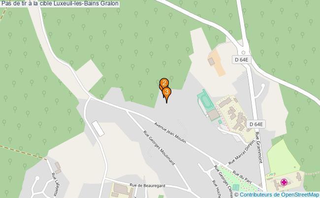 plan Pas de tir à la cible Luxeuil-les-Bains : 3 équipements