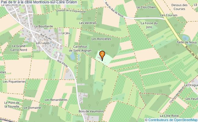 plan Pas de tir à la cible Montlouis-sur-Loire : 2 équipements