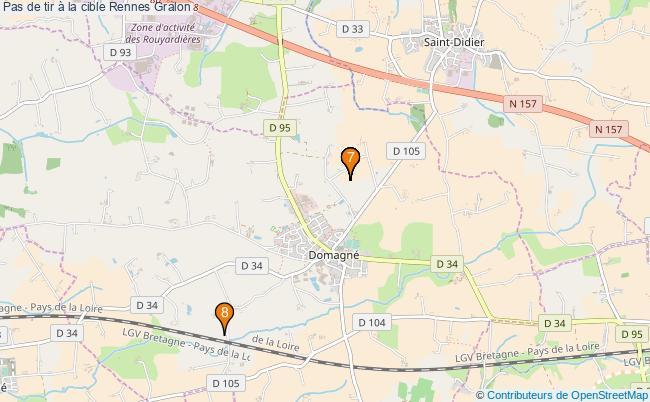 plan Pas de tir à la cible Rennes : 8 équipements