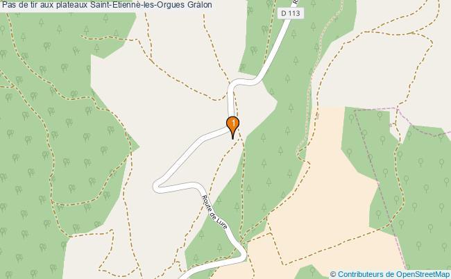 plan Pas de tir aux plateaux Saint-Etienne-les-Orgues : 1 équipements