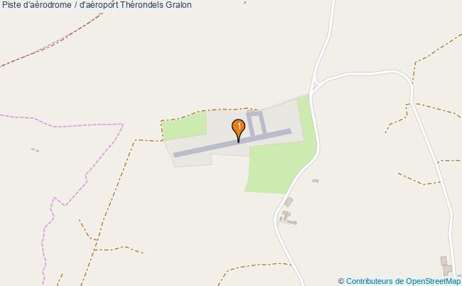 plan Piste d'aérodrome / d'aéroport Thérondels : 1 équipements